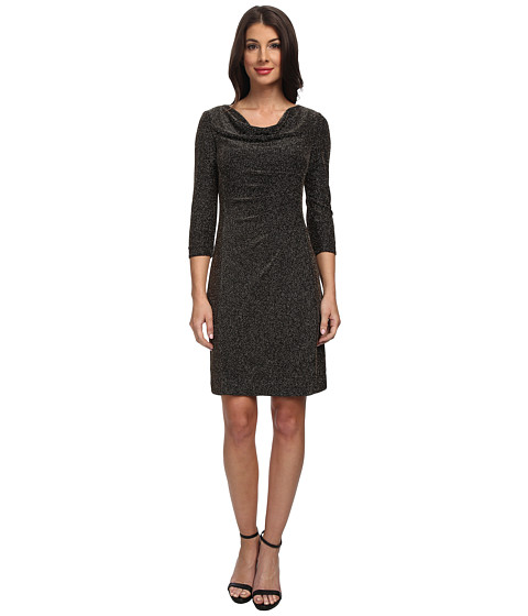 Tahari by ASL - Zack - P (Black/Gold) Women's Dress
