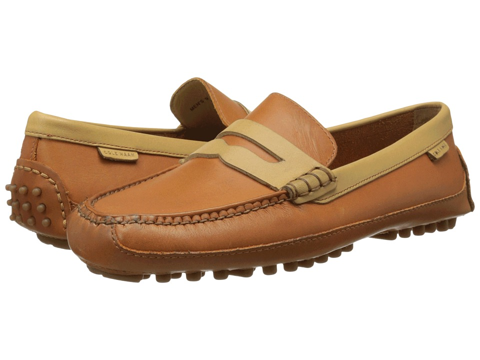 Cole Haan - Grant Canoe Penny (British Tan/Taffy) Men's Slip on Shoes