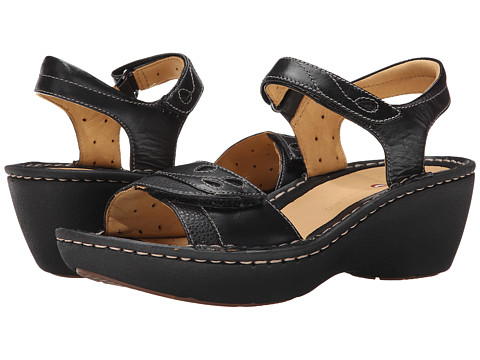 Clarks - Un Dory (Black Leather) Women's Sandals