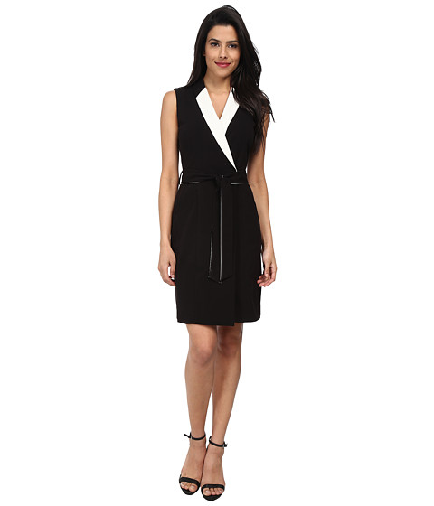 Tahari by ASL - Caitlin - K (Black/White) Women's Dress