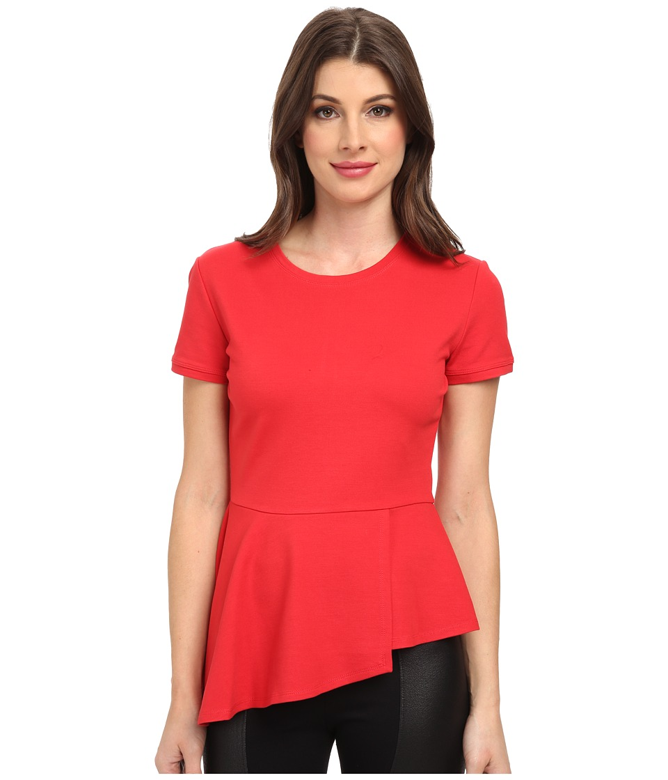 BCBGMAXAZRIA - Harlee Short Sleeve Top (Jewel Red) Women's Blouse