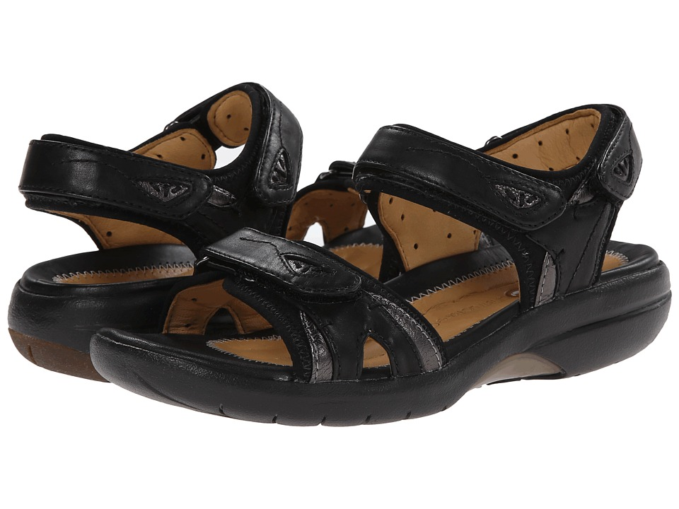 Clarks - Un Harbour (Black Leather) Women's Sandals