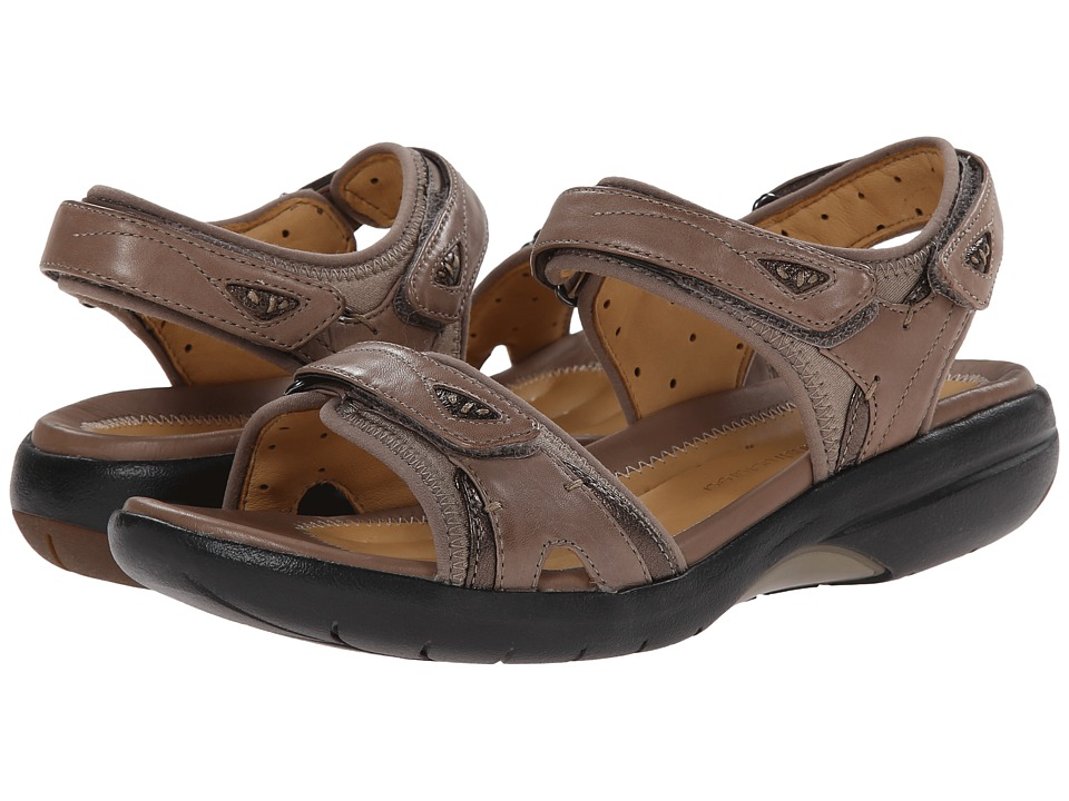 Clarks - Un Harbour (Taupe Leather) Women's Sandals