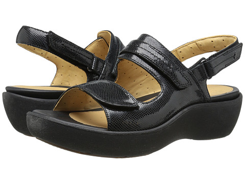 Clarks - Un Harvest (Black Leather) Women's Sandals