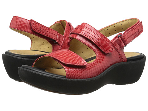 Clarks - Un Harvest (Red Leather) Women
