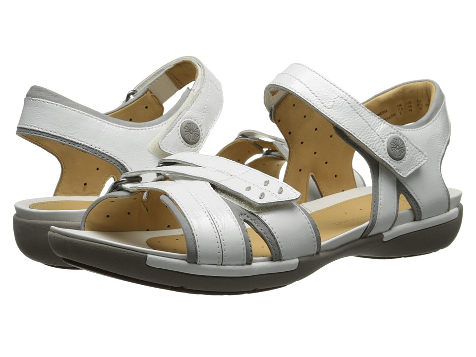 Clarks - Un Vasha (White Patent Leather) Women's Sandals
