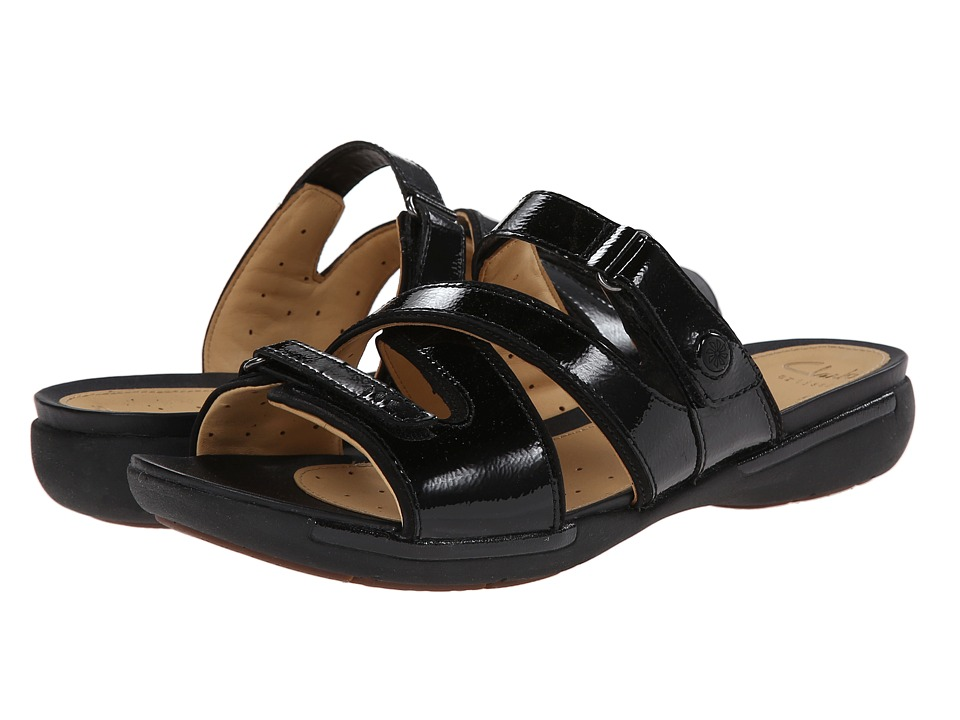Clarks - Un Verlee (Black Patent Leather) Women's Sandals