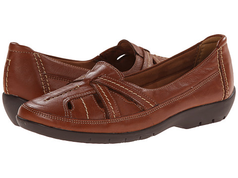 Clarks - Ordell Ava (Tan Leather) Women's Flat Shoes