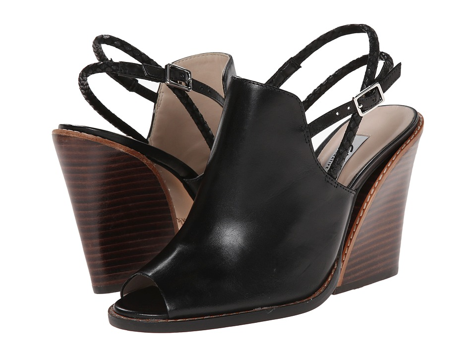 Clarks - Sarina Billy (Black Leather) High Heels