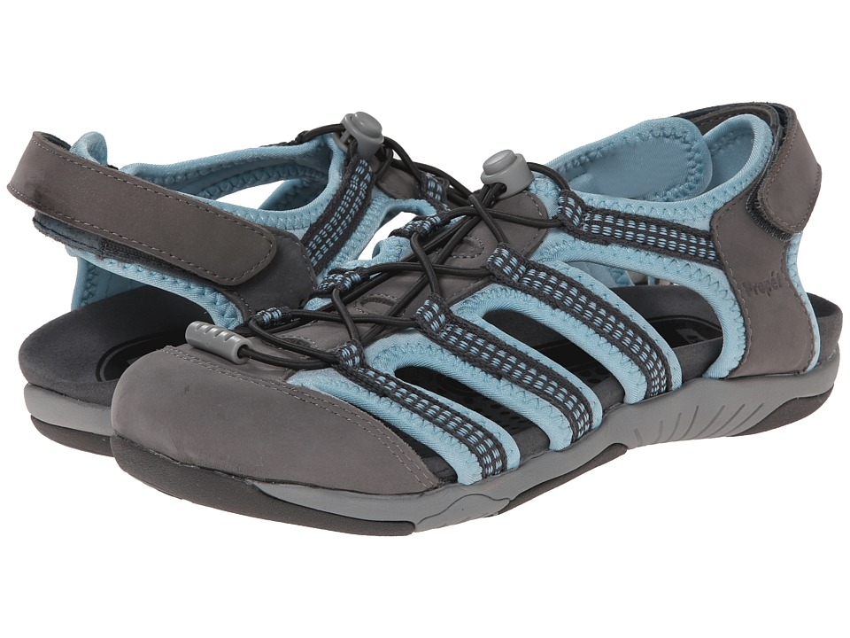 Propet Hilde (Light Gray/Light Blue) Women