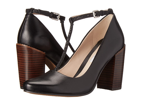 Clarks - Crumble Berry (Black Leather) High Heels