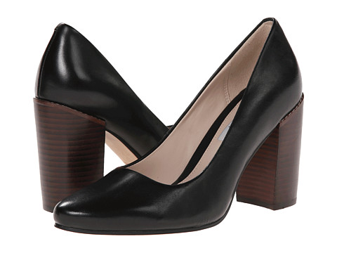 Clarks - Crumble Cream (Black Leather) High Heels