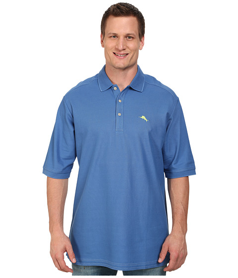 Tommy Bahama Big & Tall - Big Tall Emfielder Polo Shirt (Bengal Blue) Men