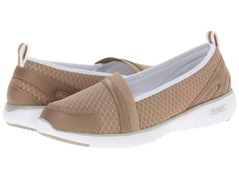Propet - TravelLite Slip-On (Taupe) Women's Slip on Shoes
