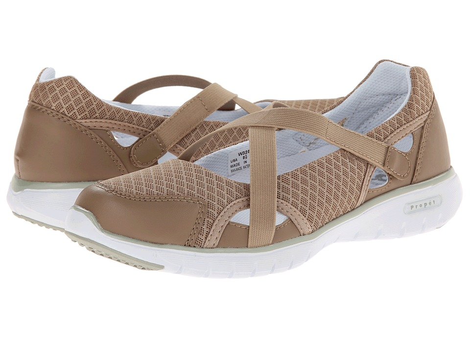 Propet TravelLite Mary Jane (Taupe) Women