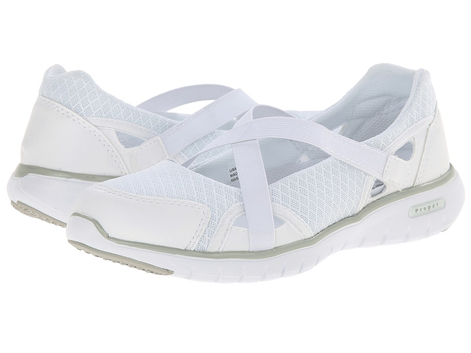 Propet - TravelLite Mary Jane (White) Women