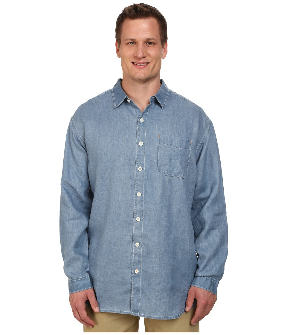 Tommy Bahama Big & Tall - Big Tall New L/S Seaglass Breezer (Dockside Blue) Men's Long Sleeve Button Up