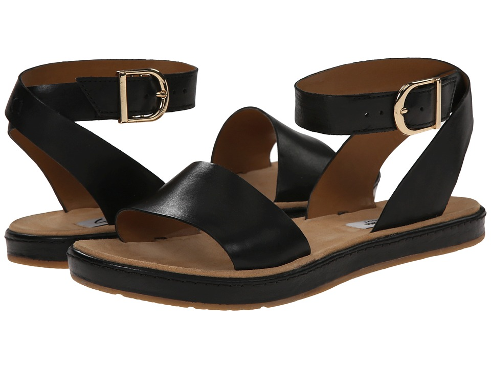 Clarks - Romantic Moon (Black Leather) Women's Sandals