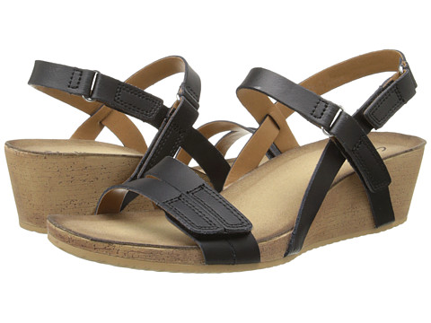 Clarks - Alto Gull (Black Leather) Women's Sandals