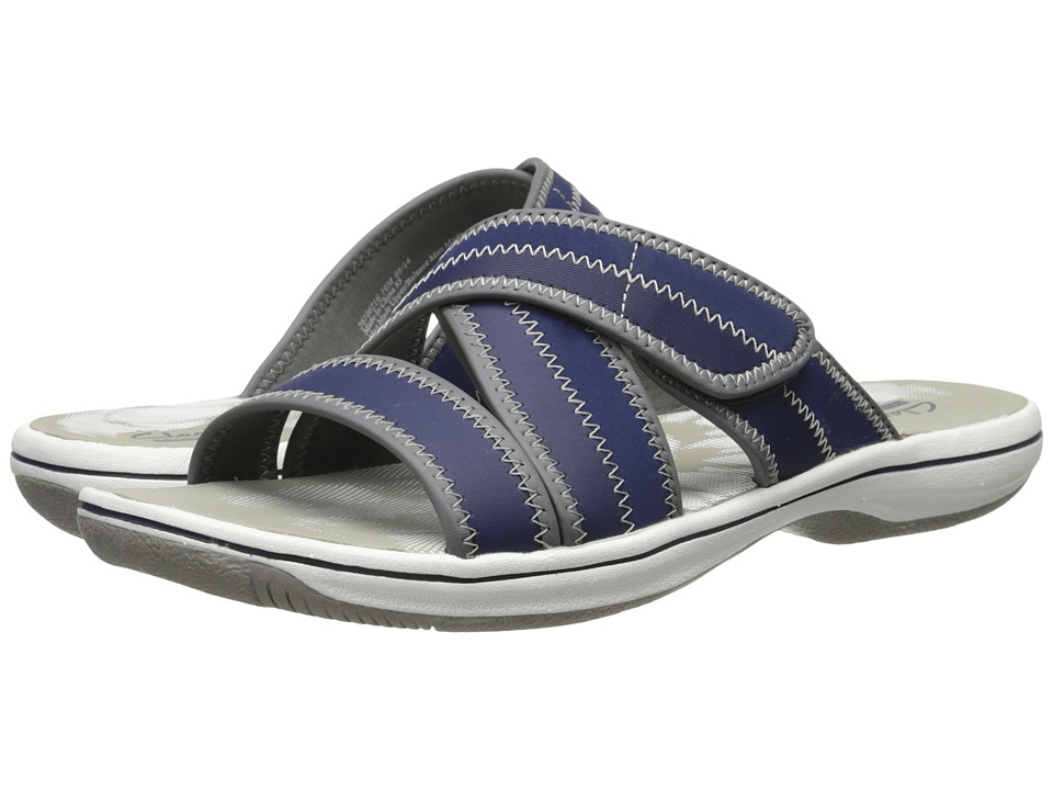 Clarks - Brinkley Arney (Navy Synthetic) Women's Sandals