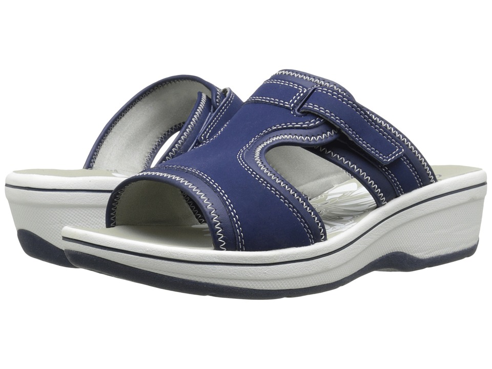 Clarks - Daisy Harp (Navy Synthetic) Women's Sandals