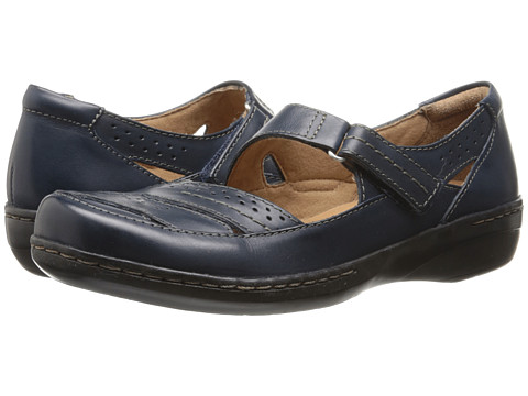 Clarks - Evianna Date (Navy Leather) Women