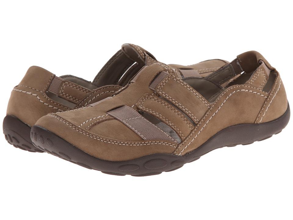 Clarks - Haley Stork (Mushroom Nubuck) Women's Shoes