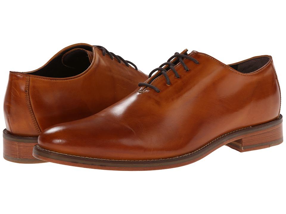 Cole Haan - Preston Wholecut Ox (British Tan) Men's Plain Toe Shoes