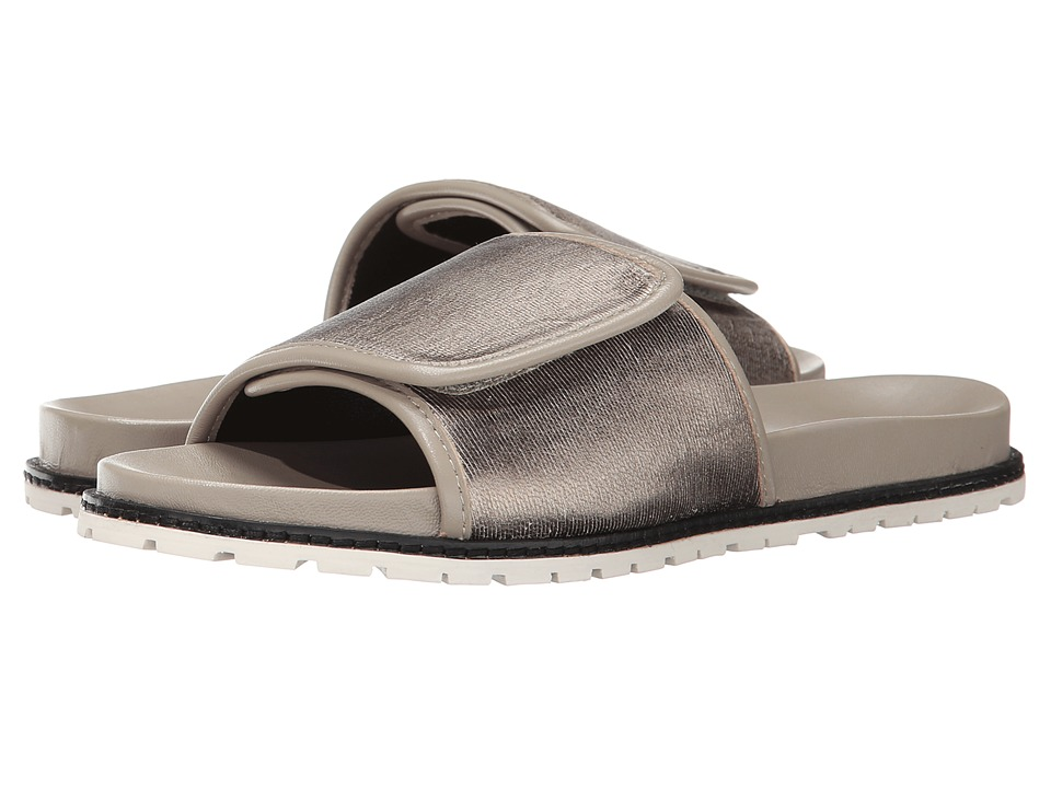 10 Crosby Derek Lam - Spence (Pewter Sliced Metallic Leather) Women