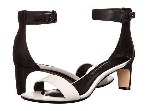 10 Crosby Derek Lam - Tehama (White/Black Vacchetta) Women's Shoes