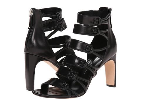 10 Crosby Derek Lam - Tansey (Black Baby Calf/Soft Nappa) Women's Toe Open Shoes