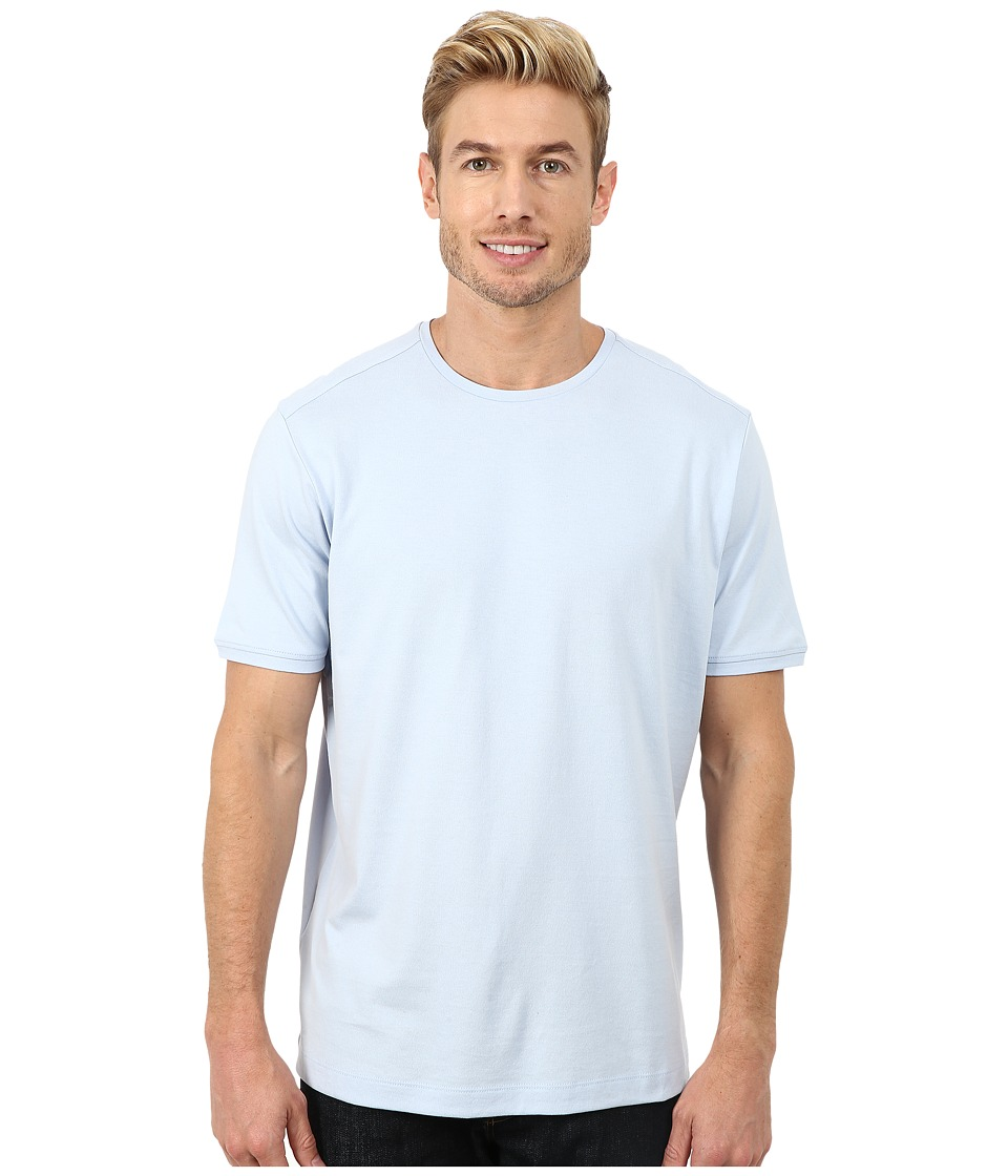 Tommy Bahama - New Palm Cove Tee (Sky Blue) Men's Short Sleeve Pullover