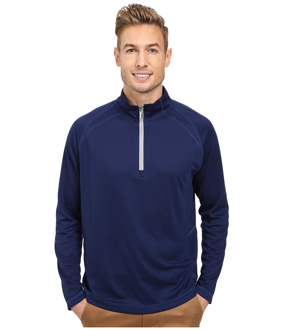 Tommy Bahama - New Firewall Half Zip (Throne Blue) Men's Sweatshirt