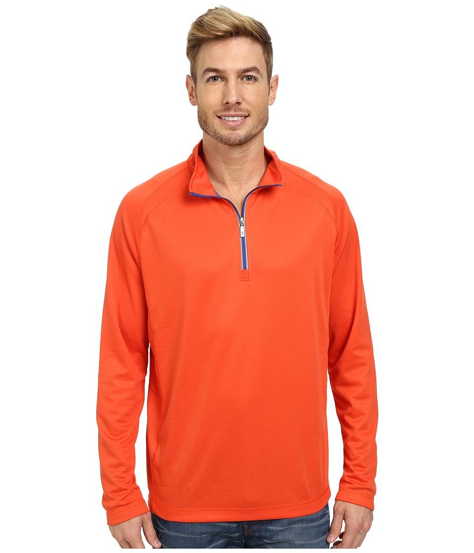 Tommy Bahama - New Firewall Half Zip (Hazard) Men's Sweatshirt