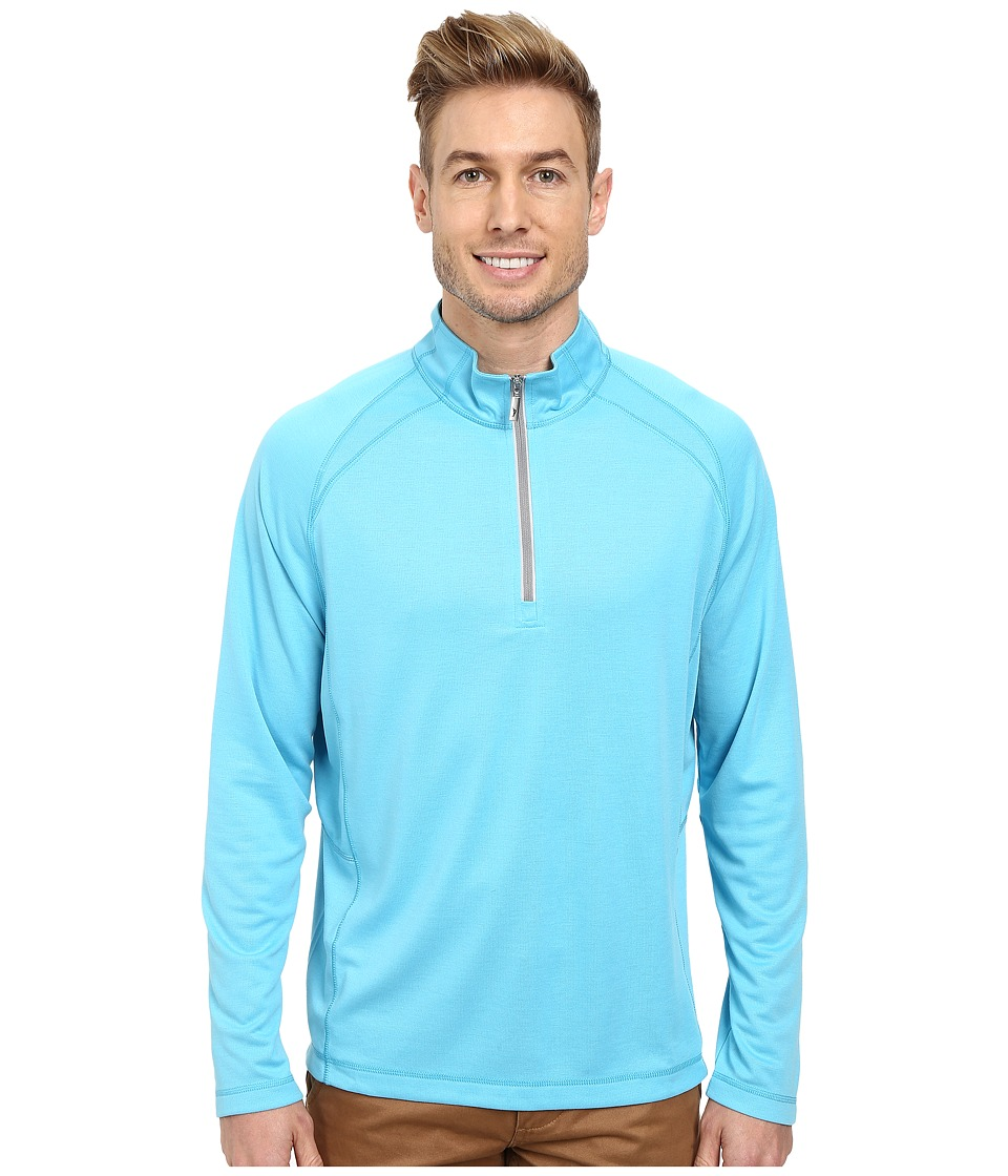 Tommy Bahama - New Firewall Half Zip (Bluewater) Men's Sweatshirt