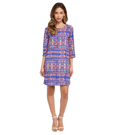 Brigitte Bailey - Giselle Print Dress (Royal) Women