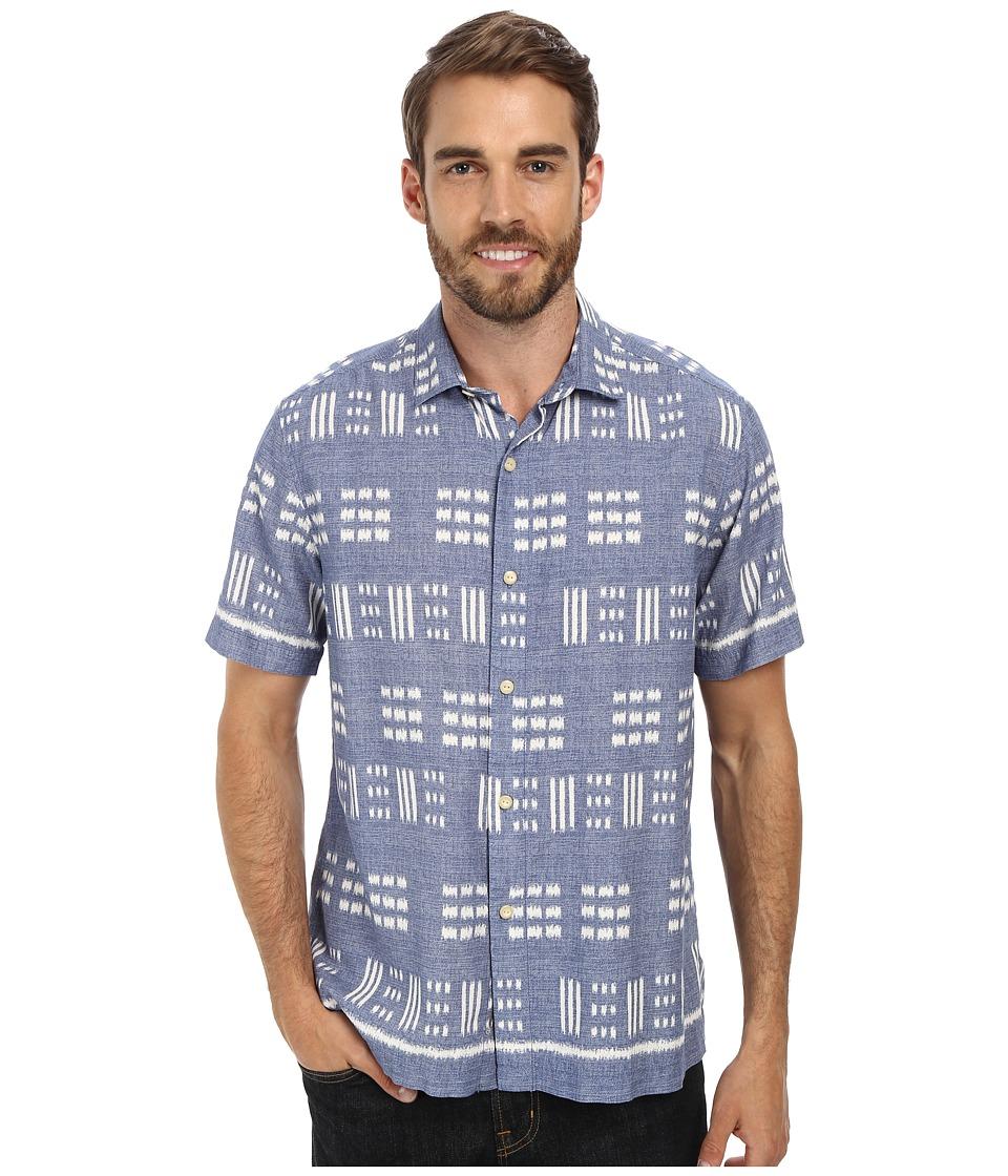 Tommy Bahama - Capri By The Sea S/S (Dusty Marina) Men's Short Sleeve Button Up