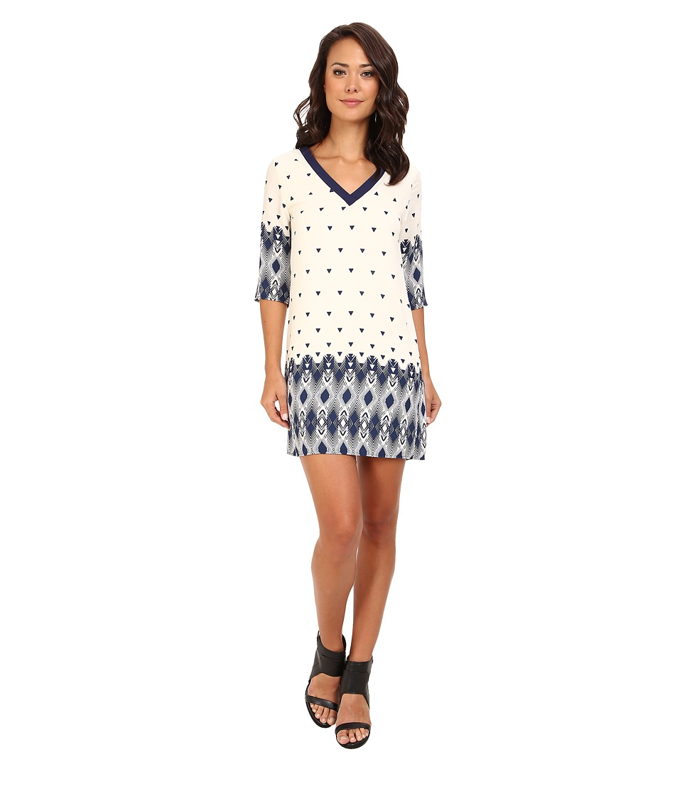 rsvp - Demetria Shift Dress (Navy/Ivory) Women's Dress