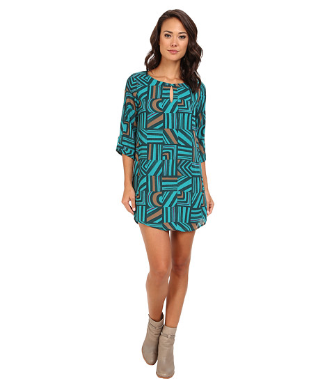 rsvp - Cherise Print Dress (Green) Women's Dress