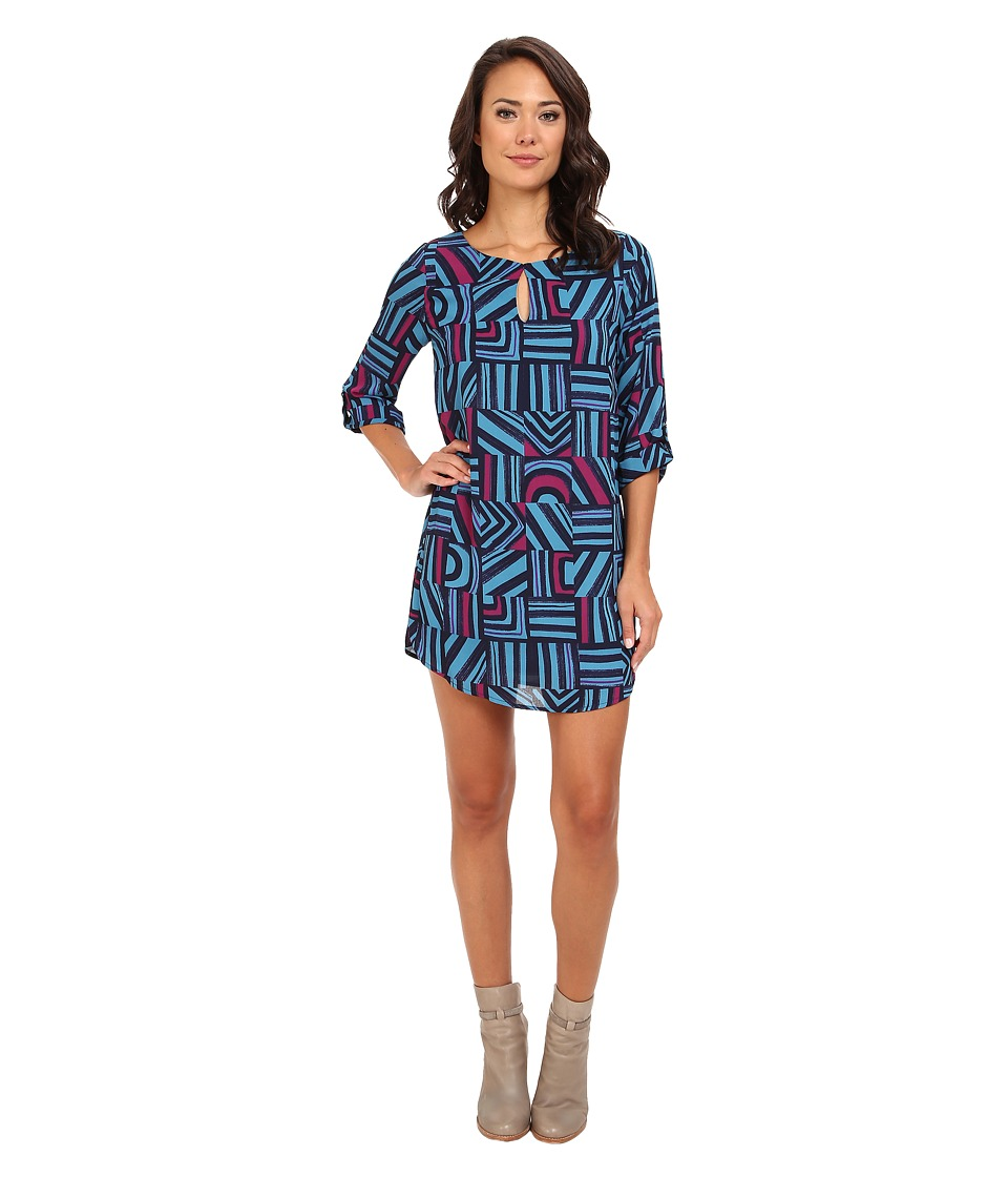 rsvp - Cherise Print Dress (Blue) Women's Dress