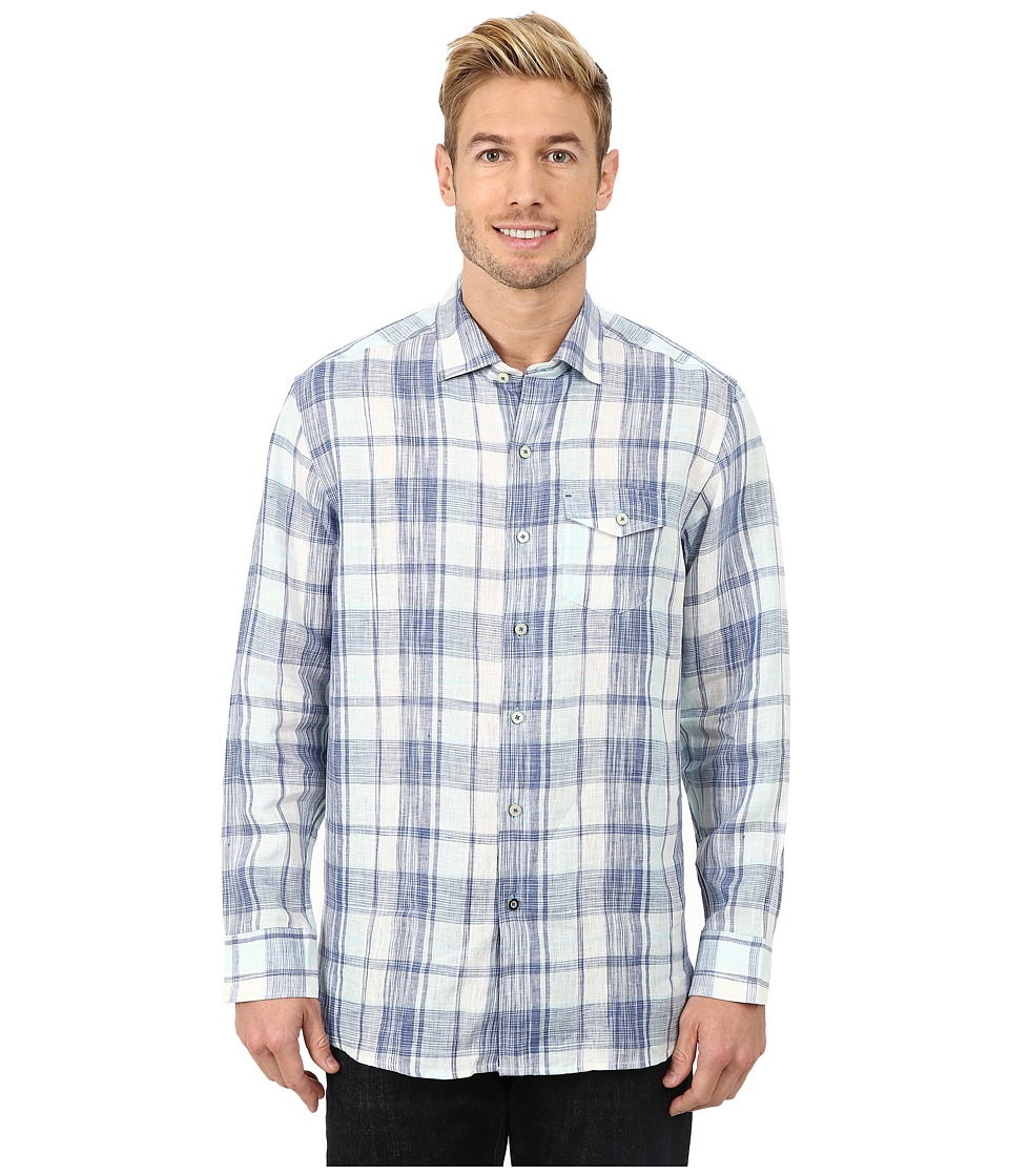 Tommy Bahama - Adriatic Plaid L/S (Bluewater) Men's Long Sleeve Button Up