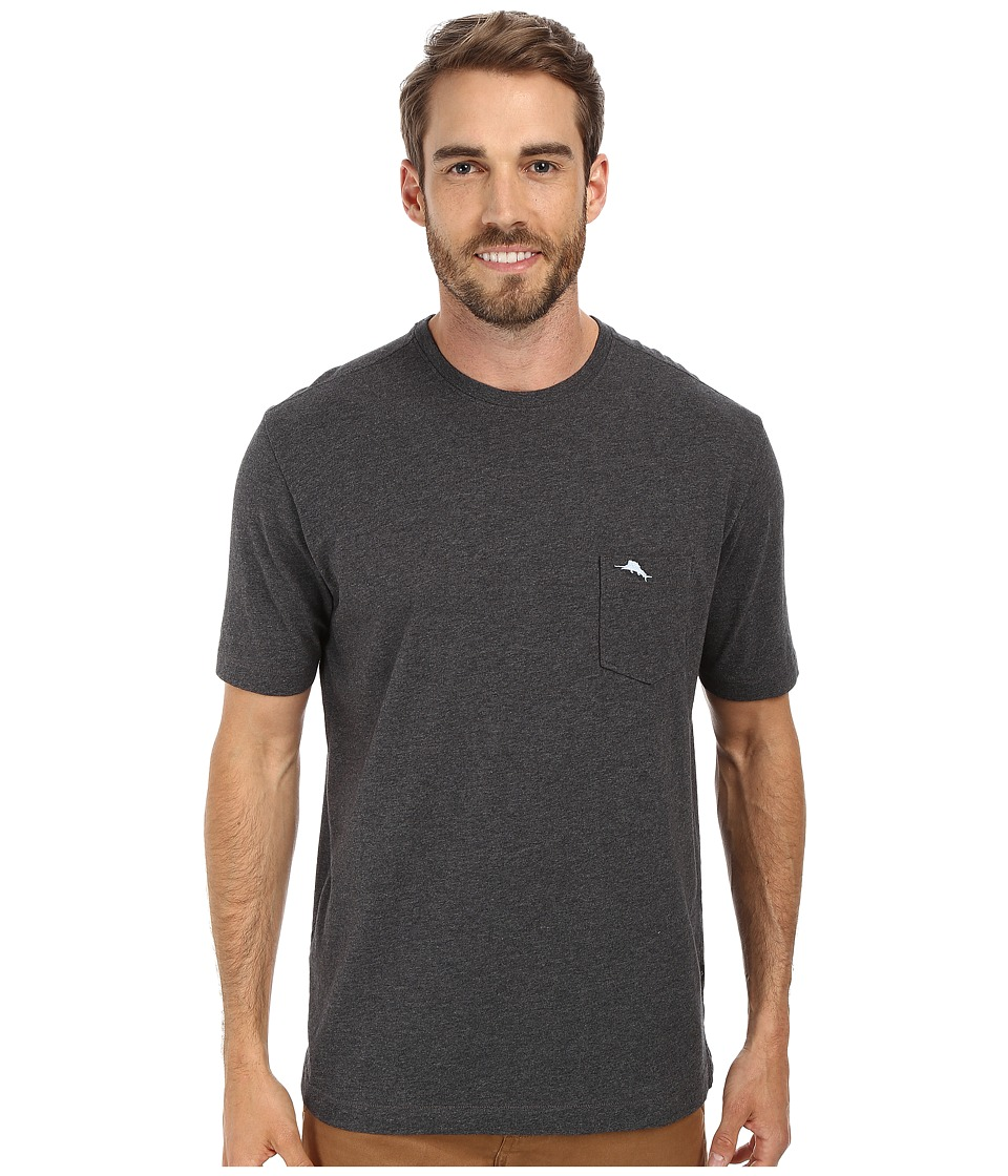Tommy Bahama - New Bali Sky Tee (Charcoal Heather) Men's Short Sleeve Pullover