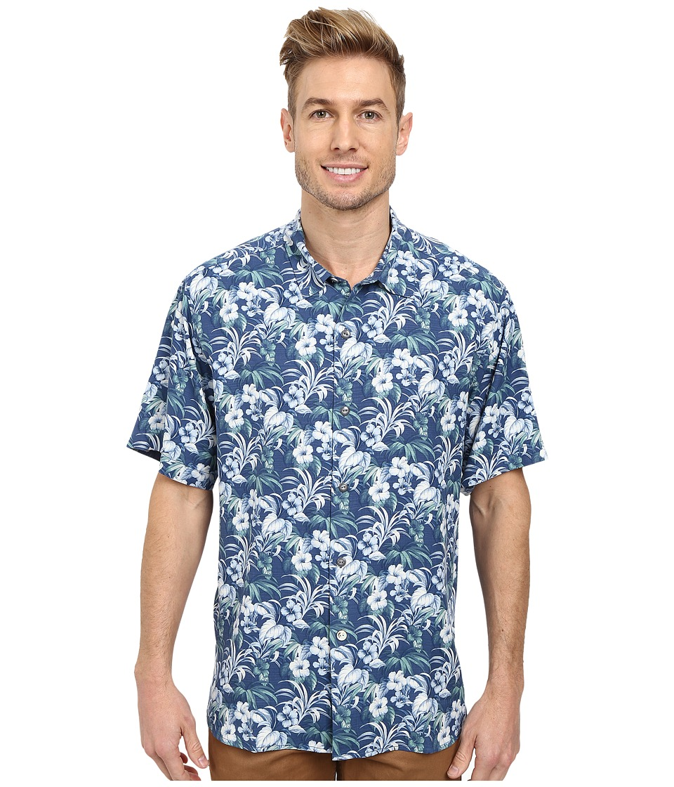 Tommy Bahama - Hibiscus Alfresco S/S (Dark Sea) Men's Short Sleeve Button Up