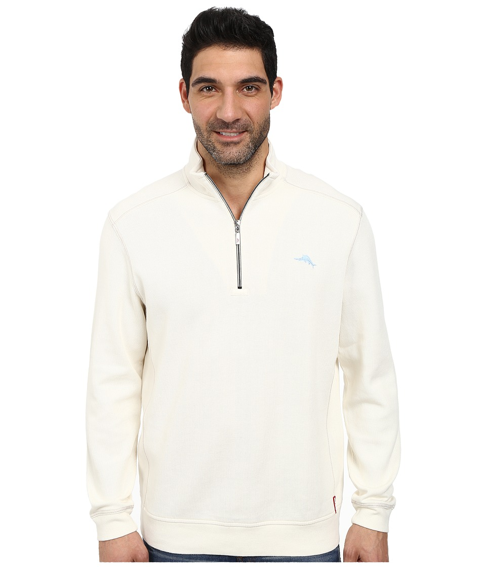 Tommy Bahama - Antigua Half Zip Sweatshirt (Coconut Cream) Men's Sweatshirt