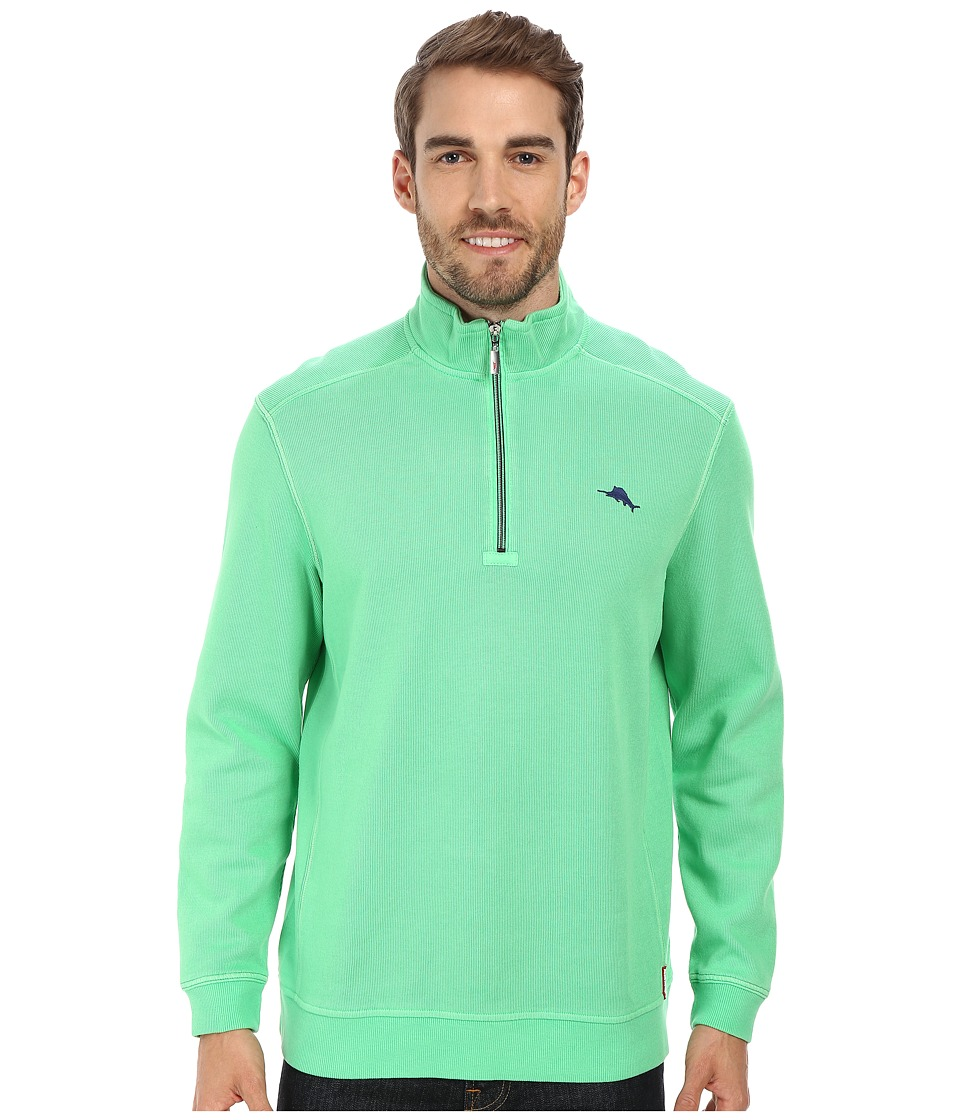 Tommy Bahama - Antigua Half Zip Sweatshirt (Dublin Green) Men's Sweatshirt