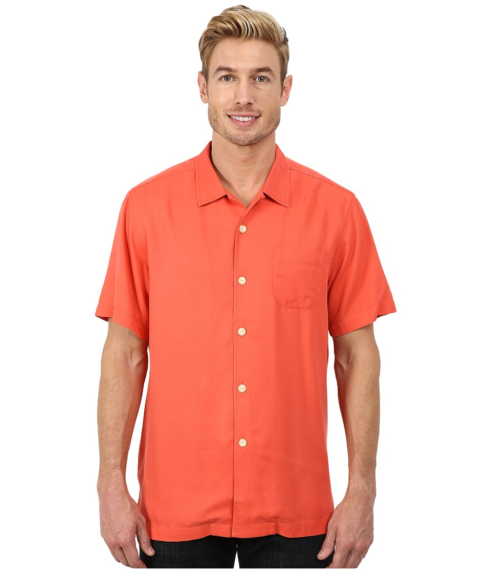 Tommy Bahama - Island Modern Fit Hamilton S/S Camp Shirt (Starfish Red) Men's Short Sleeve Button Up