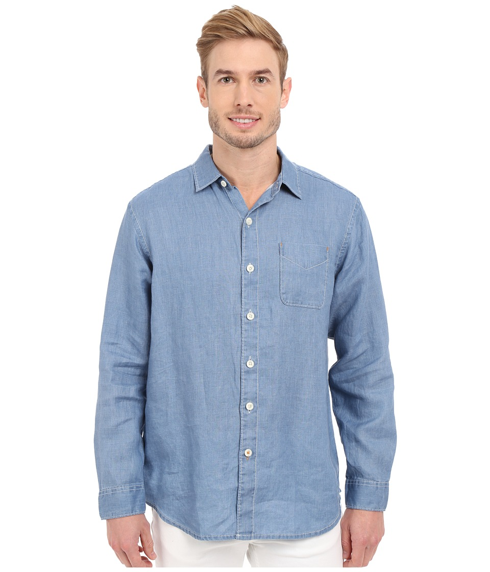 Tommy Bahama - Sea Glass Breezer Long Sleeve Shirt (Dockside Blue) Men's Long Sleeve Button Up