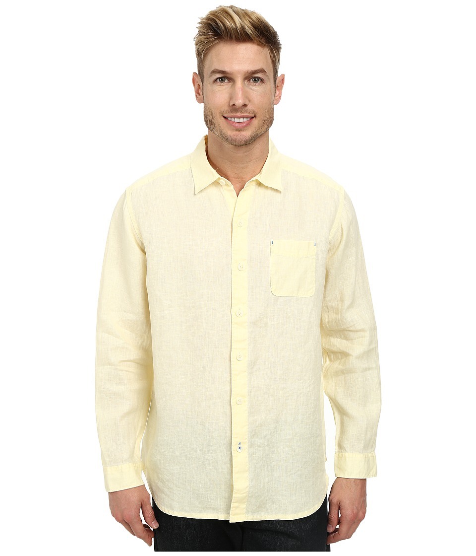 Tommy Bahama - Sea Glass Breezer Long Sleeve Shirt (Bright Creme) Men's Long Sleeve Button Up
