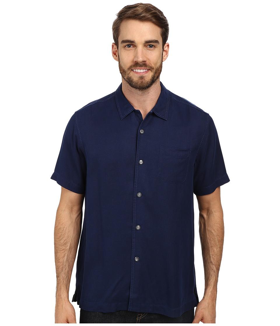 Tommy Bahama - Island Modern Fit Hamilton S/S Camp Shirt (Navy 1) Men's Short Sleeve Button Up