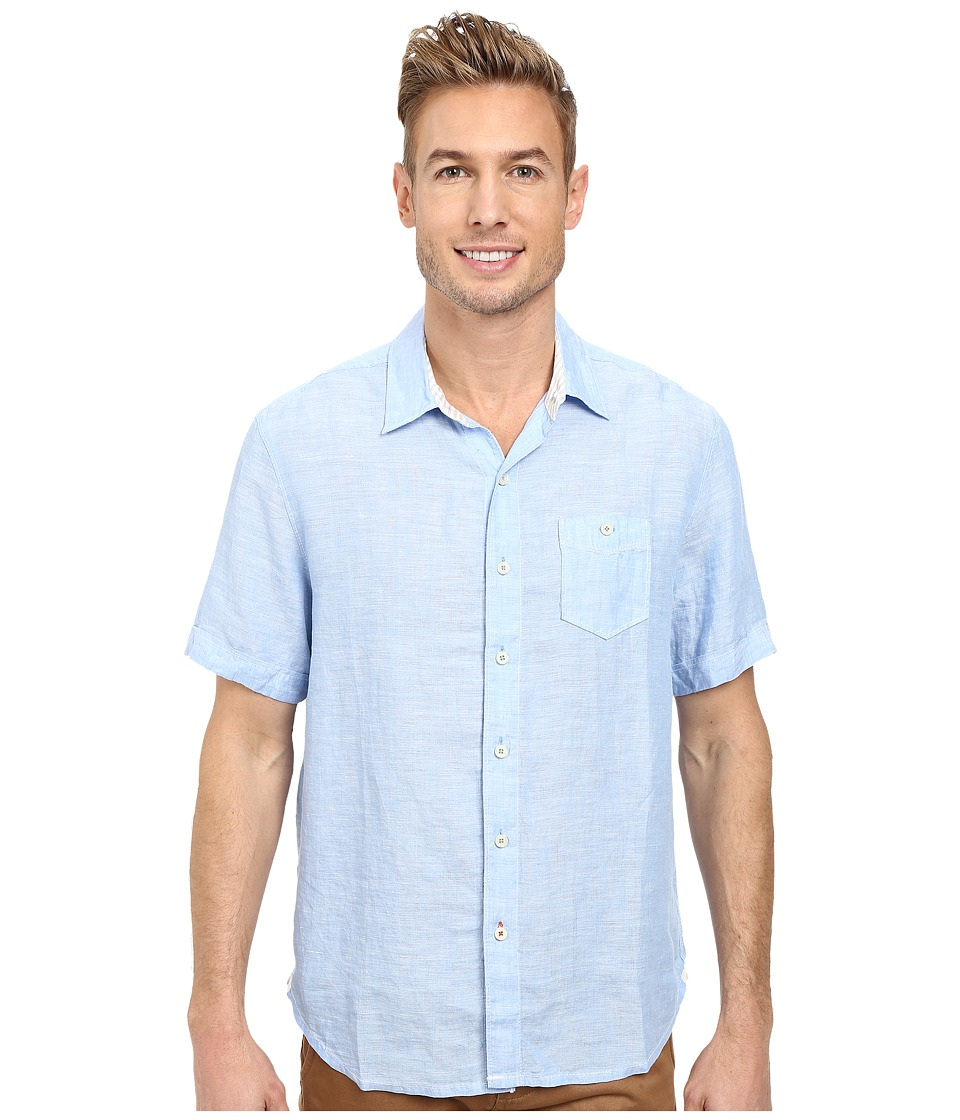 Tommy Bahama - Party Breezer S/S (Clear Sky Blue) Men's Short Sleeve Button Up